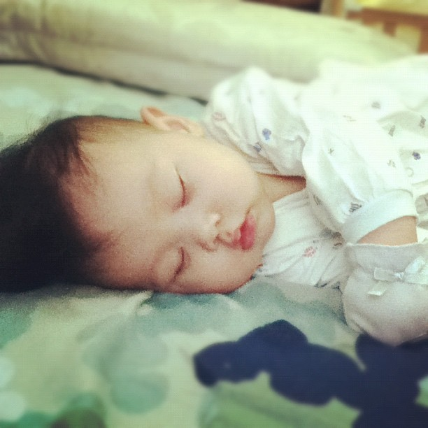 Beloved little one. (Taken with Instagram at home@hng)
